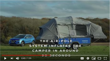 Nissan Gives EV Batteries Second Life Powering RVs   WATCH VIDEO