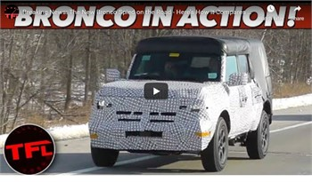 The New Bronco Spied out Testing on the Road   VIDEO