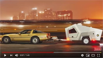 Futuristic, Solar-Powered Travel Trailer Pulled by Small Cars   WATCH VIDEO